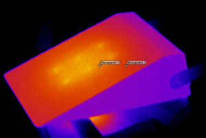 Wärmebild einer LED-Leuchte