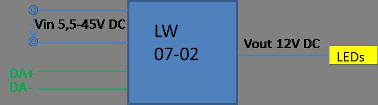 DALI zu PWM Controller LW07